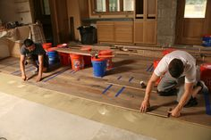 VIDEO: Master Carpenter: Wood Floors on a Concrete Slab - When gluing pre-finished engineered flooring to concrete, detailing the prep and a careful layout are key to a successful project.