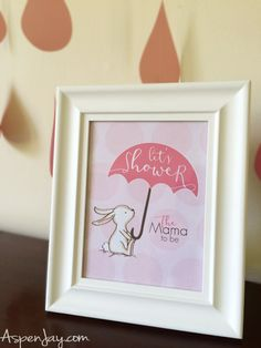 Adorable bunny baby shower ideas! LOVE the bunny! She even gives away free printables!!! That FREE bunny guest book printable is SO cute! You definitely need to pin this one!