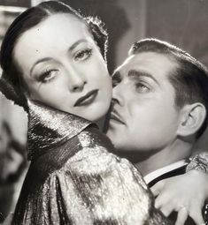 "Joan Crawford & Clark Gable. ""I adored him. Just adored him. I don't believe any woman is telling the truth if she ever worked with Gable and did not feel twinges of a sexual urge beyond belief. I would call her a liar."" ~Joan Crawford"