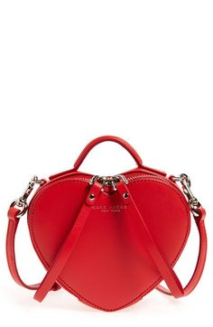MARC BY MARC JACOBS Heart Leather Crossbody Bag available at #Nordstrom