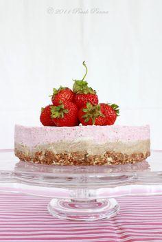 PALEO, RAW, VEGAN, DAIRY FREE, GLUTEN FREE -Raw Almond - Strawberry Cheesecake Dream:  CRUST- raw almonds, soft medjool dates, salt......FILLING - raw cashews, lemons, whole vanilla bean, coconut oil, raw honey, raspberries