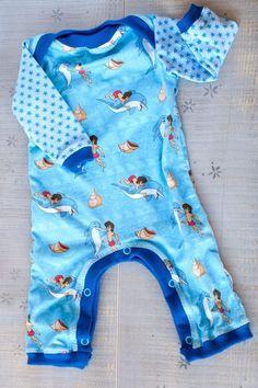 Flipper und Lopaka, Lizenzstoff, Nähen fürs Baby, Freebook Overall Baby, fürs Baby nähen, Overall nähen, Schnittmuster Overall kostenlos