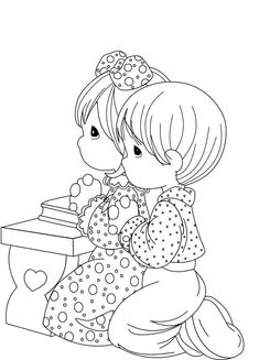praying coloring pages preschool | top kids corner coloring pages ...