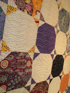 close up of quilting: Snowball quilt by Diana McCLun and Laura Nownes, quilted by Victoria McEnerney, in: Quilts! Photo by The Plaid Portico. Patch Quilt, Quilt Blocks, Snowball Quilts, Homemade Quilts, Fidget Quilt, Quilting Designs, Quilt Design, Quilting Ideas, Traditional Quilts