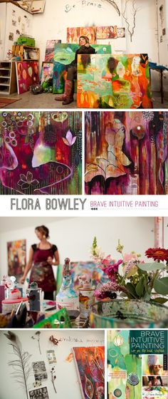 Flora Bowley Artist and Painter.   Interview on Beautiful Hello Blog