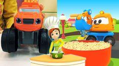 Bambini in cucina - Cook together - video divertenti per bambini Il cartone dei piccoli lancia un nuovo progetto di di video divertenti per bambini! Macchine e camion che cucinano? Certo! Leo il camion curioso ama stare in cucina con la bella Maria, e anche la rus