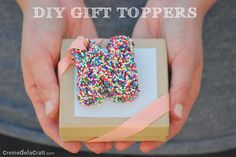 DIY: Letter Gift Toppers From Sprinkles