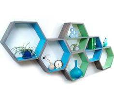 mid century modern floating shelves - Google Search