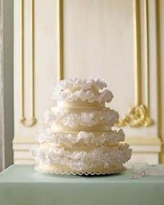 Romantic Ruffled Wedding Cakes ♥ Wedding Cake Decorations