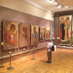 Tretyakov Gallery Moscow, Andrei Rublev Icons.