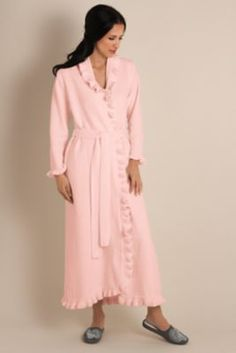 Ruffled Chenille Robe Ii - Chenille Robe, Wrap-stayle Robe, Ruffle Robe | Soft Surroundings