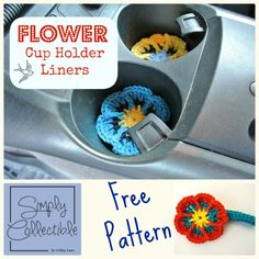 Flower Cup Holder Liner Free Crochet Pattern by Simply Collectible #crochet