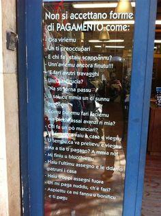 curiose forme di pagamento a Palermo