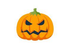Halloween Pumpkin Flat Vector