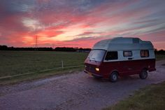 Travel Around The World, Around The Worlds, Cool Campers, Vw Camper, Motorhome, Dream Cars, Netherlands, Van, Camping