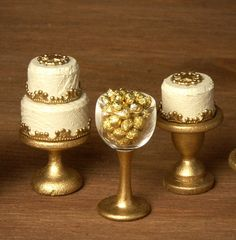 Elegant Miniature Chocolates Glass for your by DinkyWorld on Etsy