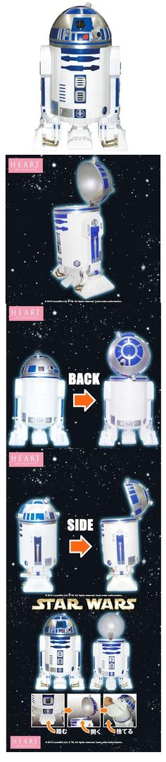 Star Wars R2-D2 wastebasket! Expensive, from Japan, but freakin' cool as hell!