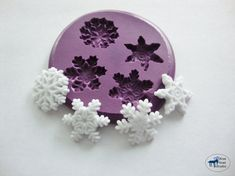Snowflake Mold  Winter Snowflakes  Silicone Mold by BlueGoatStudio, $5.95