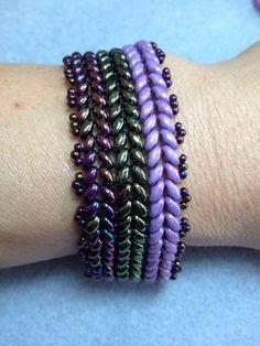Super duo herringbone bracelet.