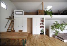 Home Decoration Accessories Ltd My Living Room, Small Living, Loft Spaces, Small Spaces, Small Japanese House, Lofts, Tiny Loft, Deco Studio, Japanese Interior Design