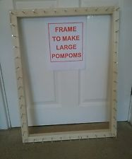 Frame/loom to make pom pom blanket 27.5 x21inches with instructions