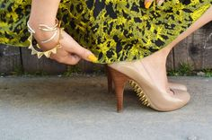 Never seen spikes on the bottom of the shoes, but I love it!! Yet elegant & cool!