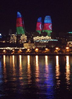 Aesthetic Eyes, Flower Aesthetic, Azerbaijan Flag, Baku City, Unusual Buildings, Beautiful Nature Pictures, Holiday Travel, Places To Travel, Tower