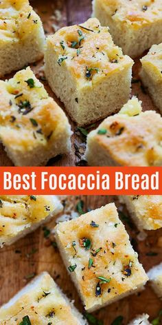 No-fuss and easy Focaccia bread recipe that calls for five basic ingredients that yields soft, fluffy and aromatic Focaccia that pairs well with any main dishes or as a snack or appetizer. Foccacia Recipe, Easy Focaccia Bread Recipe, Easy Bread Recipes, Baking Recipes, Italian Bread Recipes, Easy Fast Bread Recipe, Soft Bread Recipe, Scd Recipes, Artisan Bread