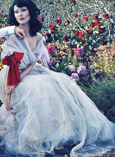 Shalom Harlow for Vogue US January 2012