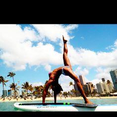 Nice pose!    #SUPyoga, #SUPfitness, Yoga, SUP, #SUP, Stand Up Paddle Board    www.paddlesurfwarehouse.com