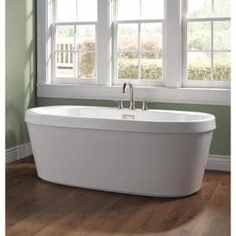 Barclay Products 5.6 ft. Acrylic Ball and Claw Feet Slipper Tub in White with Oil Rubbed Bronze Accessories-TKADTS67-WORB4 - The Home Depot Bathroom Drain, Master Bathroom, Acrylic Tub, Roman Tub Faucets, Tub Surround, Soaking Bathtubs, Marble Vanity Tops, Toilet Storage, White Sink