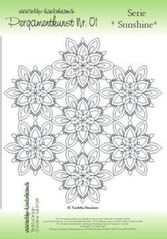 Pergamano Pergamentkunst - Teddy-Design - www.teddys-handarbeiten.de