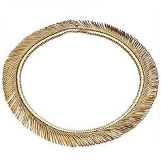 Tiffany & Co. Gold Fringe Necklace    1stdibs.com