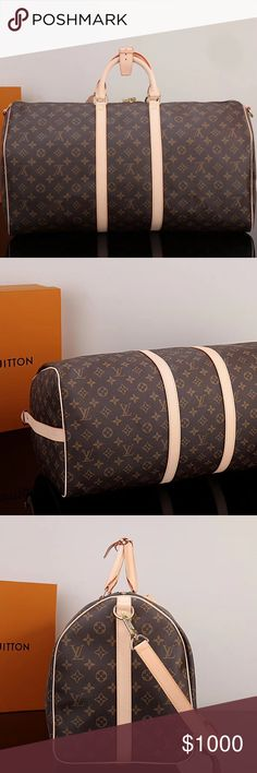 55 Keep All Monogram Luggage L V L V 55 Keep All Monogram BEST OFFER!!!!! Comes with strap, tag, lock, keys, and dust bag! OG Box too big and torn to ship! Louis Vuitton Bags Travel Bags