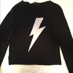 Sweater Black and white lightening bolt sweater Sweaters Crew & Scoop Necks