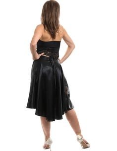 Argentine tango black skirt tango lace skirts by TheGiftofDance