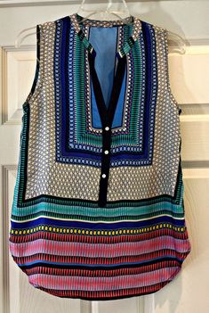 Stitch Fix #6 ~ Teacher Style ~ Fallon Mixed Print Sleeveless Blouse by Brixon Ivy- love it!