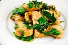 Chicken and Spinach Saute