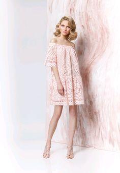 Cotton Lace Dress | Платье из хлопкового кружева - бледно-розовый, платье, красивое платье, летнее платье