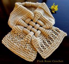 cachecol de tricô como fazer trançado