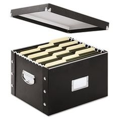 Snap-N-Store® Snap N Store Storage Box, Letter/Legal, 16 1/4 x 9 3/4 x 13 1/4, Black