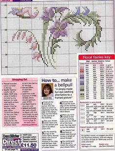 Cross-stitch Fairy flower, part 2.. With color chart