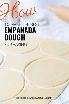 How to make the best homemade empanada dough for baking? Try this Mexican empanada dough recipe. Makes for a great dessert. Empanadas recipe dough is super easy to make. for the full recipe and video recipes desserts baking Authentic Mexican Recipes, Mexican Food Recipes, Beef Recipes, Baking Recipes, Mexican Desserts, Recipies, Dinner Recipes, Mexican Empanadas, Beef Empanadas
