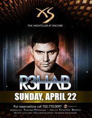 R3hab at XS Las VegasR3hab will be at XS Nightclub on Sunday, April 22nd. Skip the line by getting a Table Reservation email table.resos@xslasvegas.com or purchasing your tickets now at http://xs.wantickets.com/Events/103028/R3hab-at-XS-Las-Vegas/