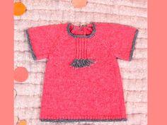 Tricot : robe bouton de rose