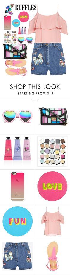 """""""love ruffles"""" by licethfashion ❤ liked on Polyvore featuring SW Global, Vera Bradley, Crabtree & Evelyn, RMK, Casetify, Lisa Perry, BB Dakota, Valentino, Bamboo and polyvoreeditorial"""
