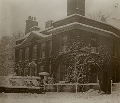 London England: 32 Smith Grove, Highgate, in the snow, circa 1906 Vintage London, Old London, North London, Hertford House, Old Photos, Vintage Photos, Westminster Bridge, Photographs And Memories, London Today