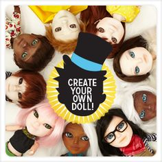 Makie Dolls. Create your own doll! From Makielabs, London. I think these are really ugly, but the concept is intriguing.