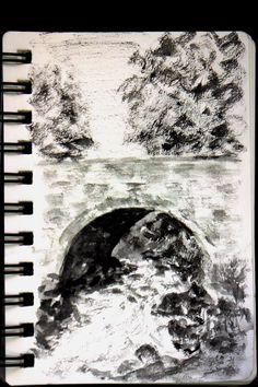 Day 22 Monochrome watercolour sketch: imagined scene