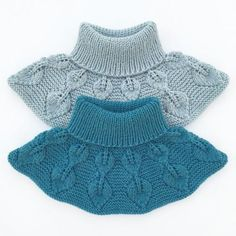 Ravelry: Løvfallhals / Falling Leaves Collar pattern by Strikkelisa Knitting For Kids, Baby Knitting Patterns, Knitting Designs, Free Knitting, Free Crochet, Knit Crochet, Crochet Patterns, Collar Pattern, Knitted Shawls